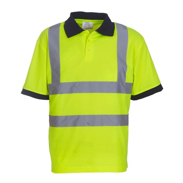 10 Hivis polo shirts for 110 including a logo.