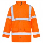 10 printed Hi vis parka jackets for €250